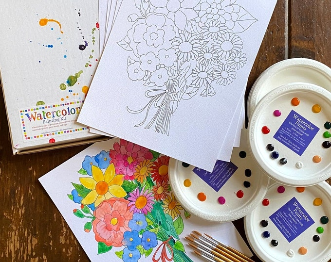 Watercolor Painting Party for Six