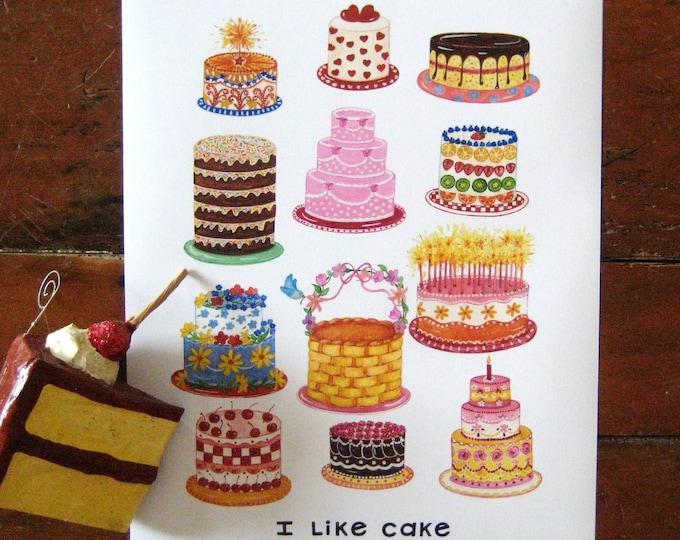 I Like Cake Print 11x14