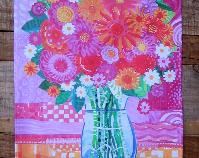 Vase of Flowers Kitchen Towel