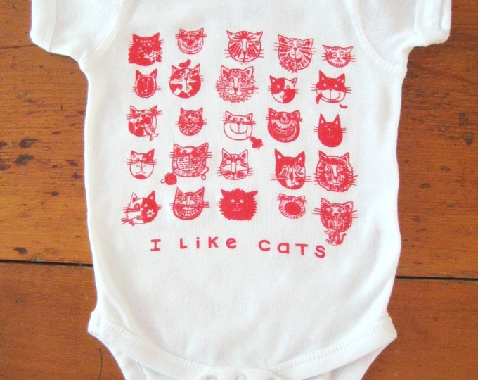 Red Cats Baby Bodysuit