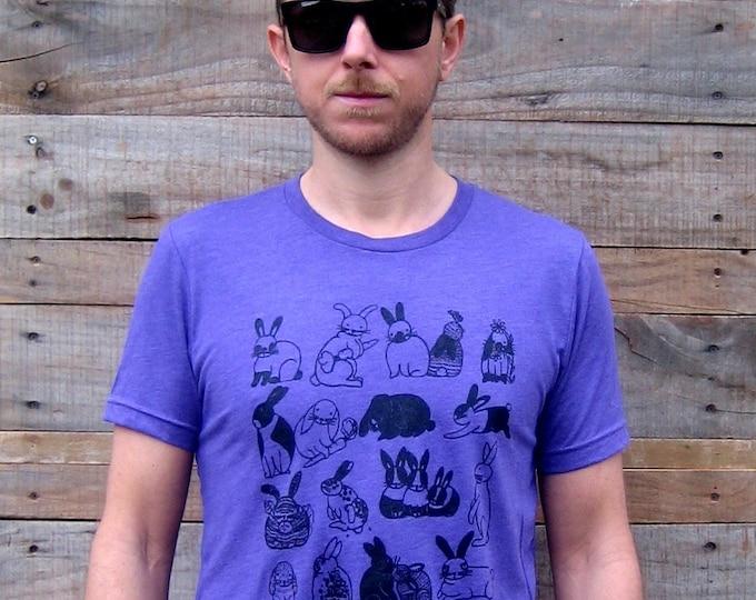 Bunnies Purple Unisex Tri Blend T Shirt