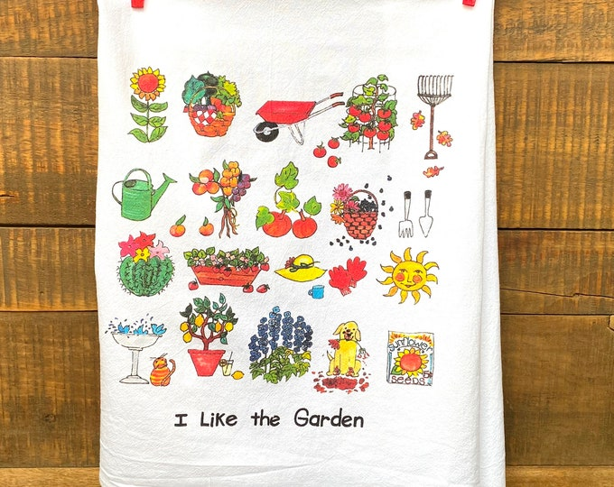 I Like the Garden Kitchen Towel