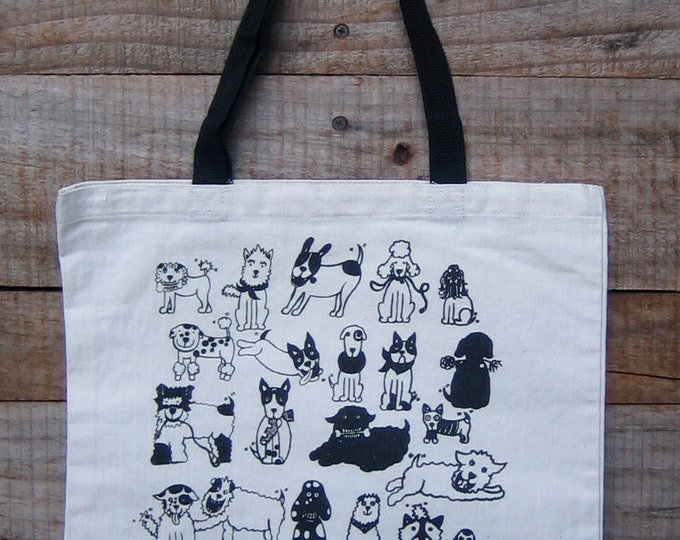 Rescue Dogs cotton canvas market tote