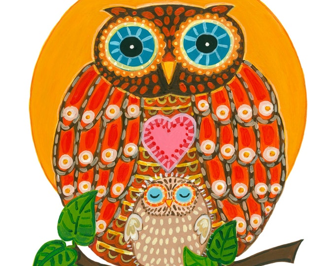 OWL with Baby Print 11x14