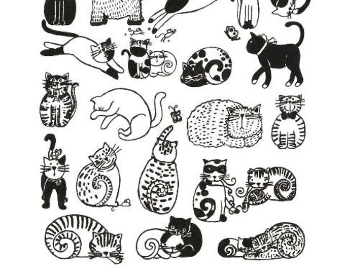 Black and White Rescue Cats Print 11x14