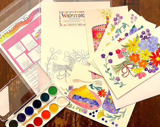 Watercolor Greeting Cards Painting Kit
