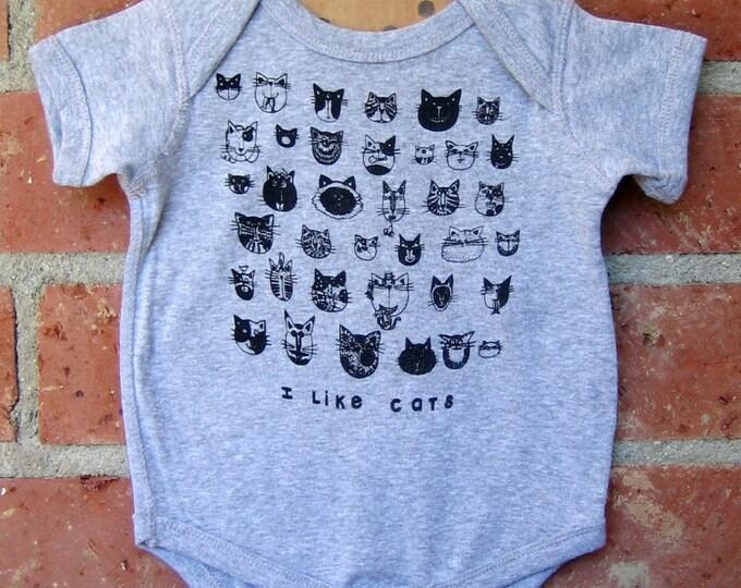 CATS Grey Baby Bodysuit