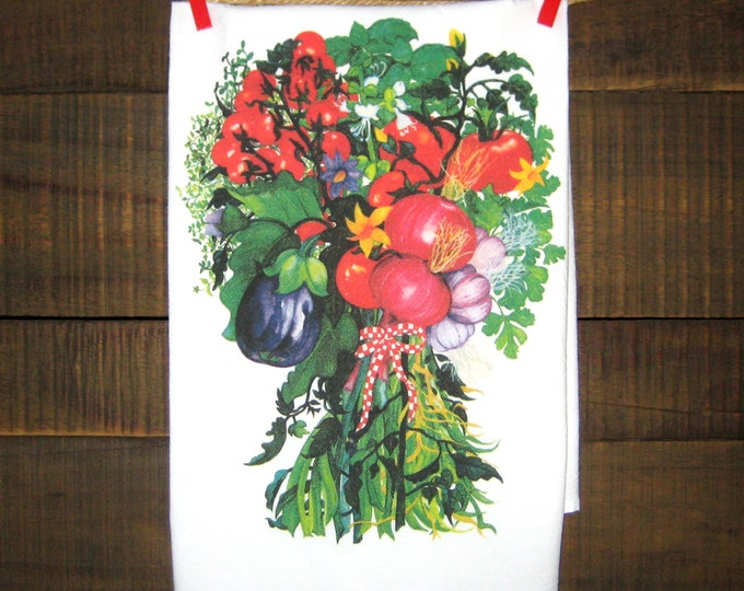 Eggplant and Tomatoes Kitchen Towel