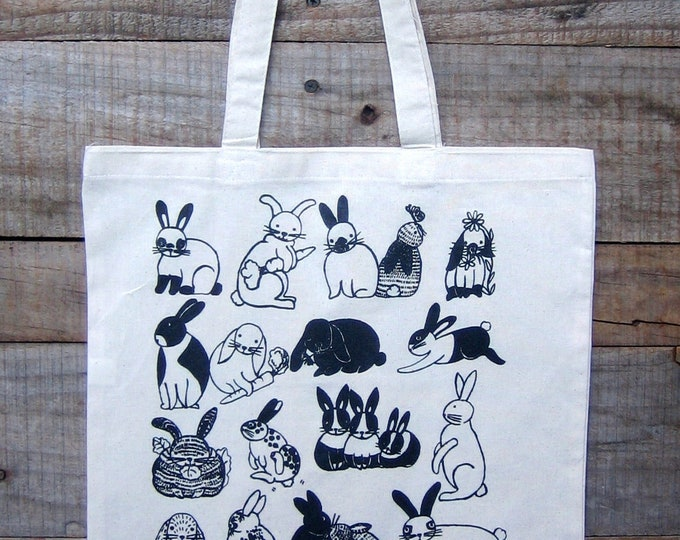 Bunnies Natural Cotton Market Tote
