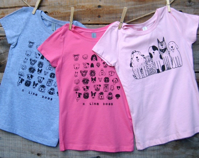 Girls Dog Love T Shirts