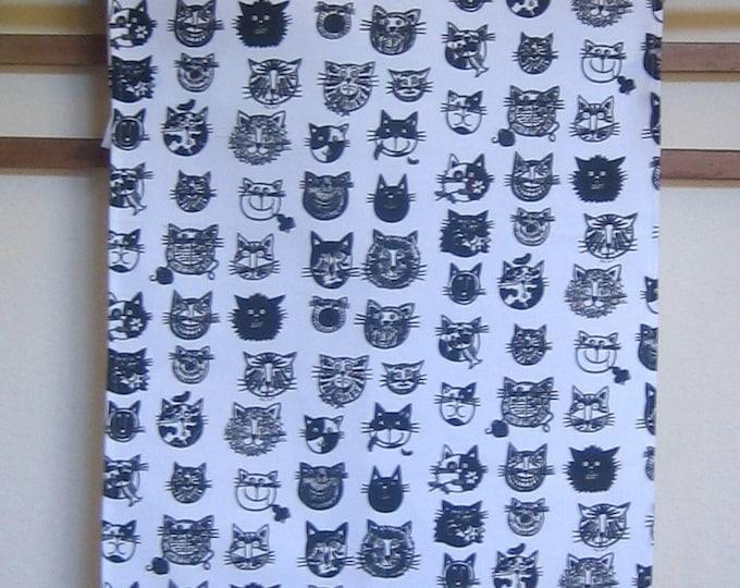 Cat Faces Kitchen Towel