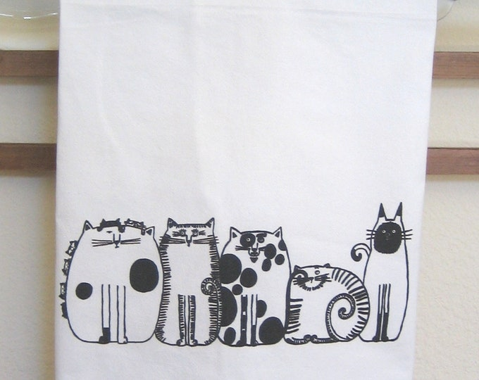 Cats in a Row Kitchen Towel