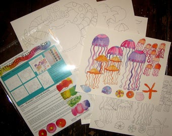 Watercolor Painting Kit ~ By the Sea