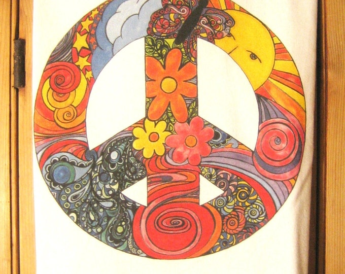 Peace Sign Kitchen Towel