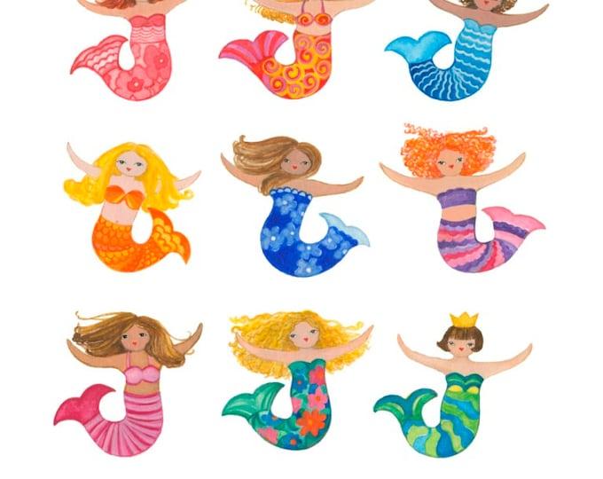 Mermaids Print 12x12