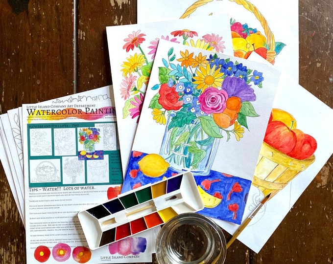 Watercolor Painting Kit Flowers and Still Lifes Two