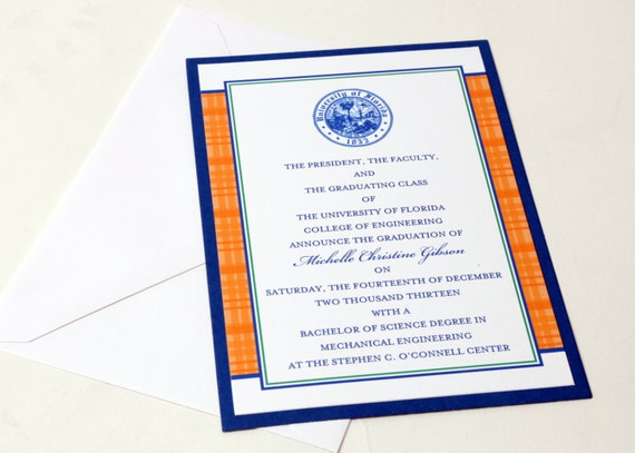 Traditional graduation announcements college universities etsy image 0 filmwisefo