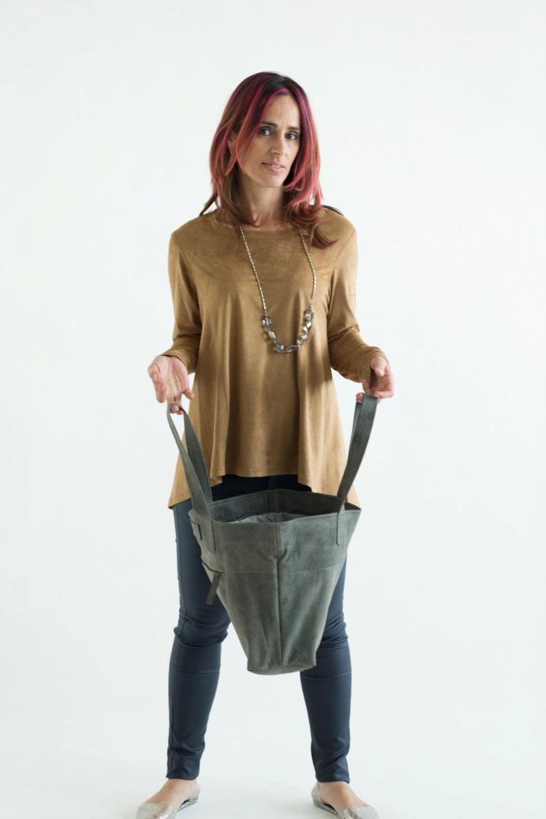 Womens Handbag Gray leather bag Soft Leather Bag Gray Tote Bag Gray leather tote Gray leather handbag Gift Zipper Bag