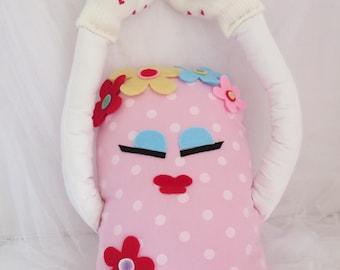 Hugging pillow , nursery pillow , hugging doll , baby hug doll , kids hug doll , kids hugging pillow