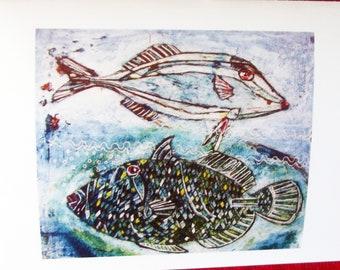 Greetings Card Fish Card Blank Card Fish Print