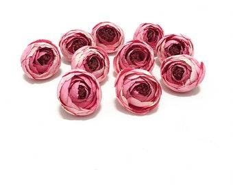 Artificial flowers etsy 10 raspberry pink ranunculus buds artificial flowers halo silk flowers circlet hair accessories flower crown wedding millinery hat mightylinksfo