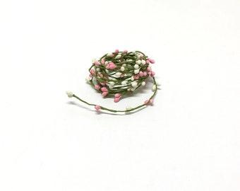Wedding Decor Flower Crown Wreath Supplies The Blue Hutch 9/' White Green Pip Berry Garland Millinery Berries Artificial Berries
