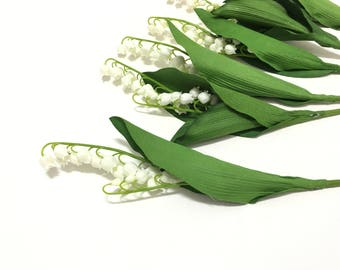 Lily of the valley artificial flowers etsy artificial plastic lily of the valley flower stems choose quantity artificial flowers greenery filler wedding flowers silk flowers mightylinksfo
