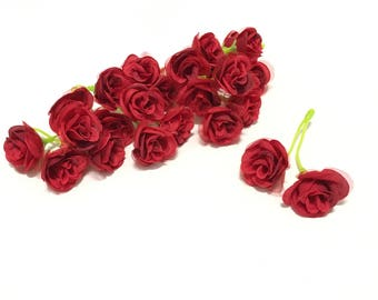 Miniature roses etsy 24 red artificial sweetheart roses miniature roses silk flowers artificial flowers flower crown hair accessories wedding flowers mightylinksfo