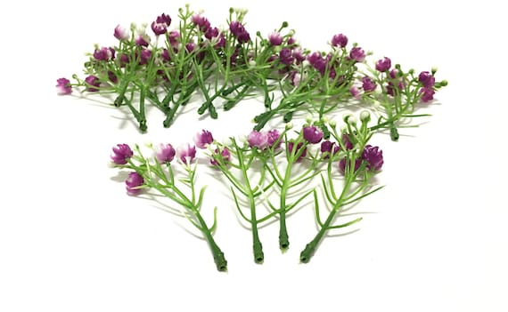 Delphinium Buds on Stems Artificial Flowers One Lot of 50 Plastic Flower Buds FIFTY