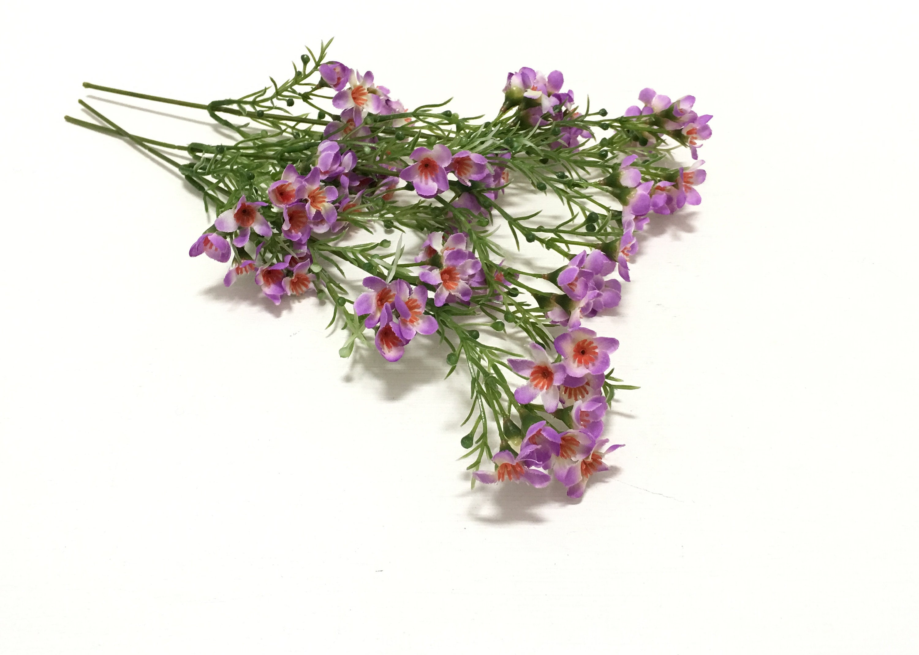 Artificial Light Purple Wax Flower Stems Artificial Flowers Etsy