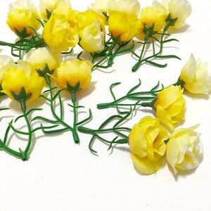 Miniature silk flower etsy silk flowers 24 small sweetheart roses in shades of yellow miniature roses flower crowns silk flowers artificial flowers millinery mightylinksfo