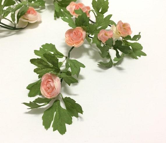 6 ft blush pink mini ranunculus garland wedding crowns etsy image 0 mightylinksfo