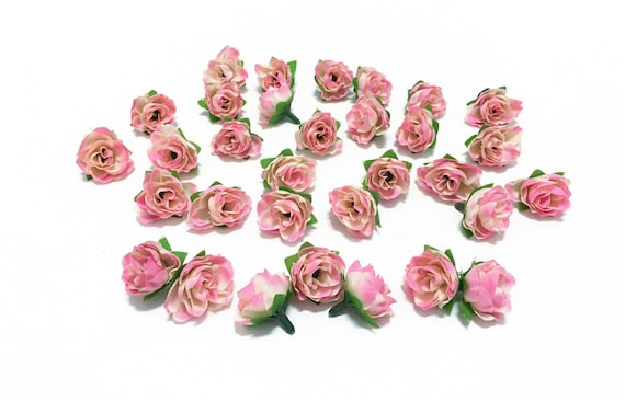 30 artificial miniature cream pink mini roses artificial etsy image 0 mightylinksfo