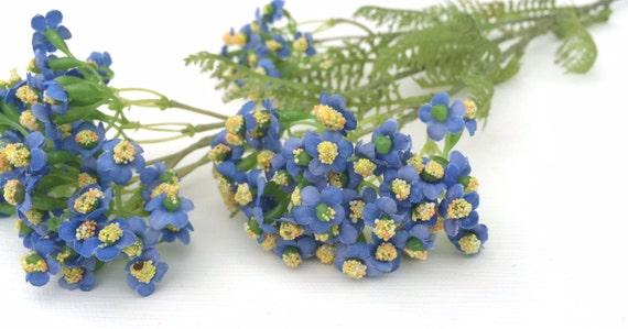 Blue forget me not flower spray artificial flowers silk etsy image 0 mightylinksfo