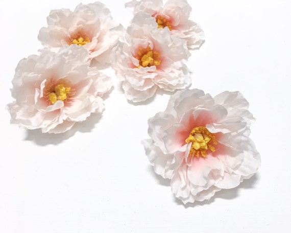 5 small blush pink peonies 35 inches artificial flowers silk 5 small blush pink peonies 35 inches artificial flowers silk flowers flower crown hair accessories millinery from blissfulsilks on etsy studio mightylinksfo