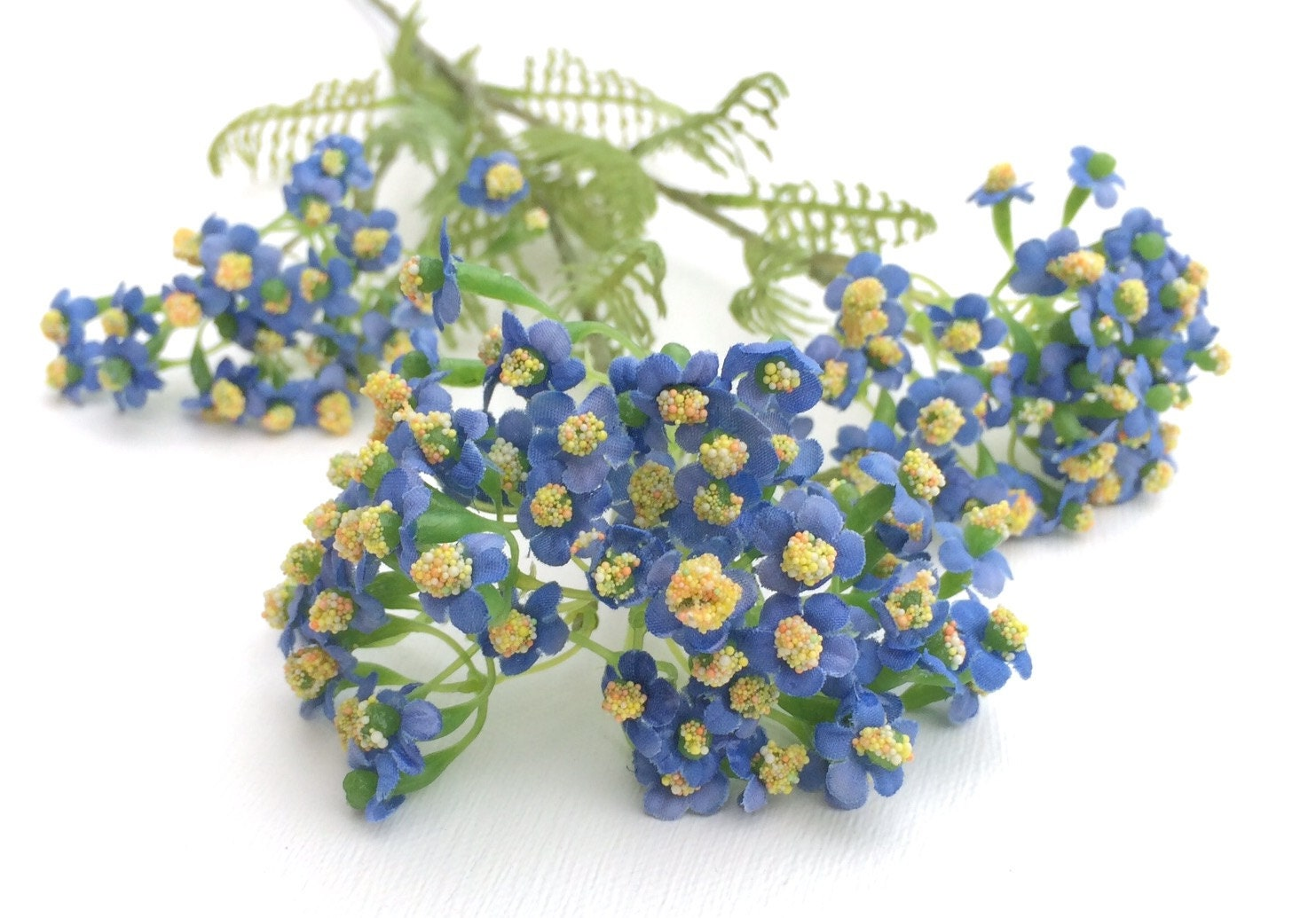 Blue Forget Me Not Flower Spray Artificial Flowers Silk Flowers