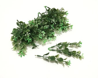 1 Set Plastic Greenery Stems - Filler, Plastic Flowers, Millinery, Flower Crown, Corsage, Wedding, Hair Accessories