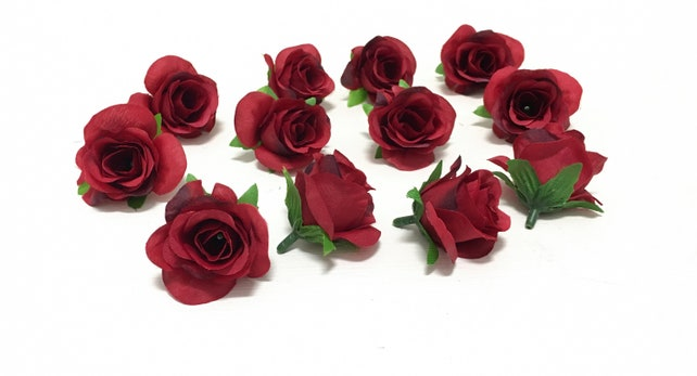 12 miniature artificial burgundy red roses artificial etsy image 0 mightylinksfo