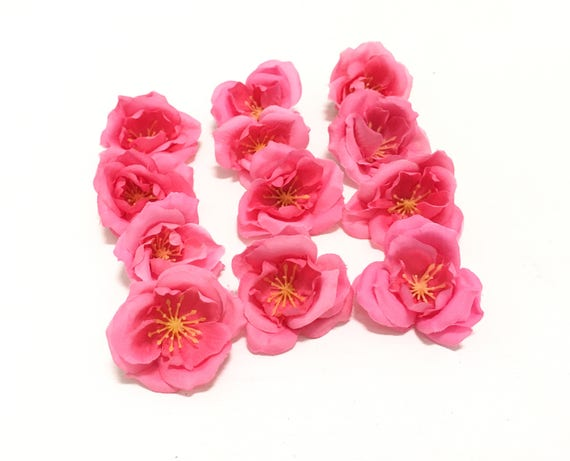 12 small hot pink artificial roses artificial flowers etsy image 0 mightylinksfo