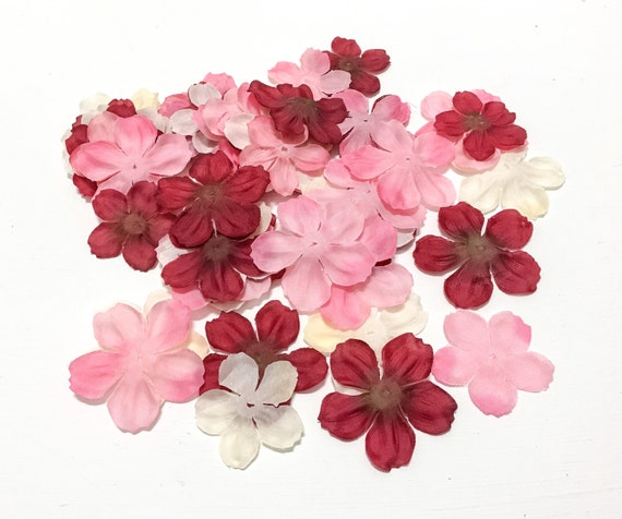 Delphinium Petals In Pink Ivory And Red 50 Pieces Etsy