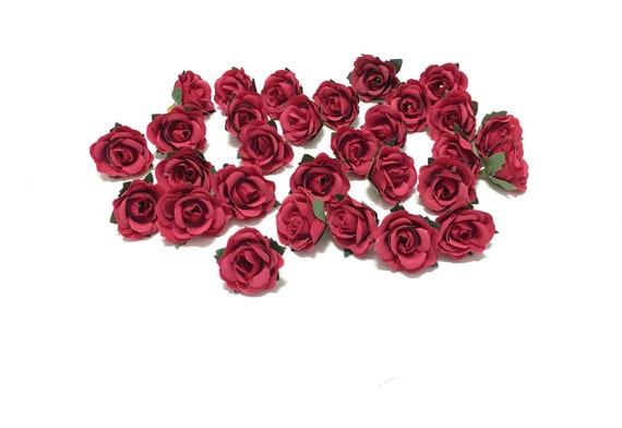 30 Artificial Miniature Red Mini Roses Artificial Flowers Etsy