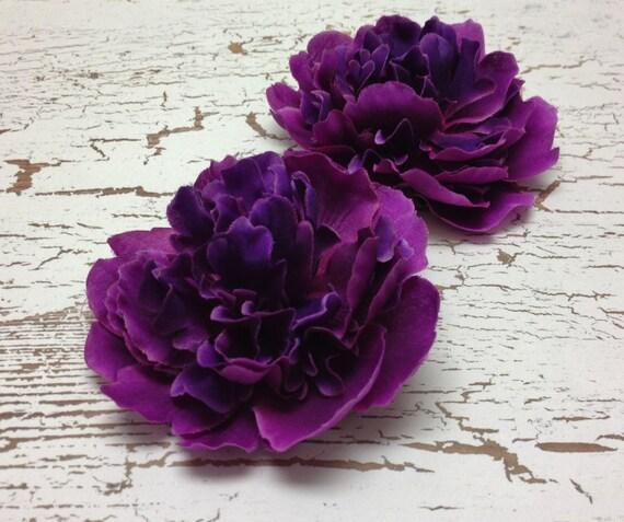 2 artificial peonies in deep raspberry purple smaller size etsy image 0 mightylinksfo