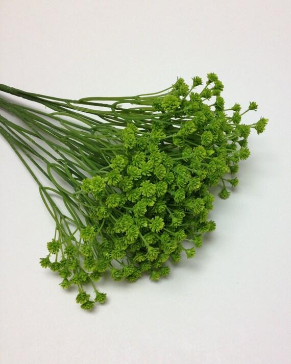 Künstliche Blume BUSH LIME grün Kunststoff Schleierkraut