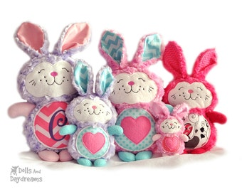 Bunny Rabbit Embroidery Machine ITH Pattern Easter Softie Stuffie Plush Toy DIY Quick Easy