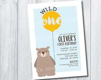 Printable Wild One Birthday Invite
