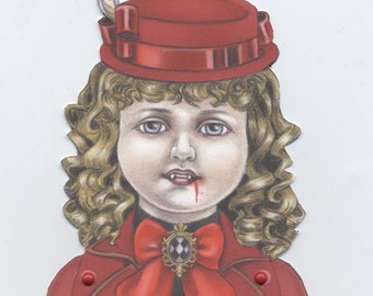 Claudia the Little Vampire downloadable paper puppet