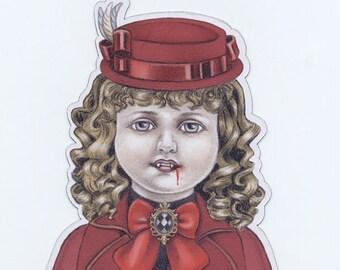 Claudia the Little Vampire magnet