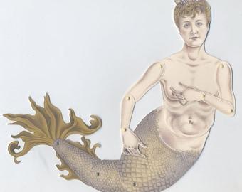 Mermaid downloadable paper puppet