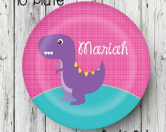 Dinosaur Plate Personalized Plate Personalized Melamine Plate Kids Dinner Plate Toddler dinnerware Dinosaur party Dinosaur Birthday  sc 1 st  Etsy & Personalized plate | Etsy