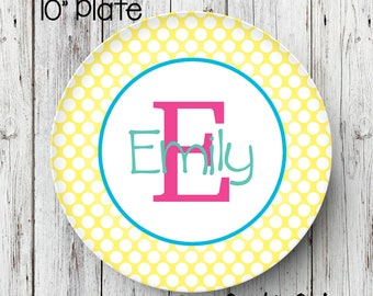 Personalized Name Plate, Birthday Plate, Personalized Melamine Plate, Kids Dinner Plate, Toddler dinnerware, Birthday plate, melamine plate